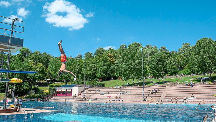 Lahr: Kein Andrang im Freibad