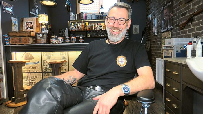 Friesenheim: Haareschneiden in der Whisky-Bar